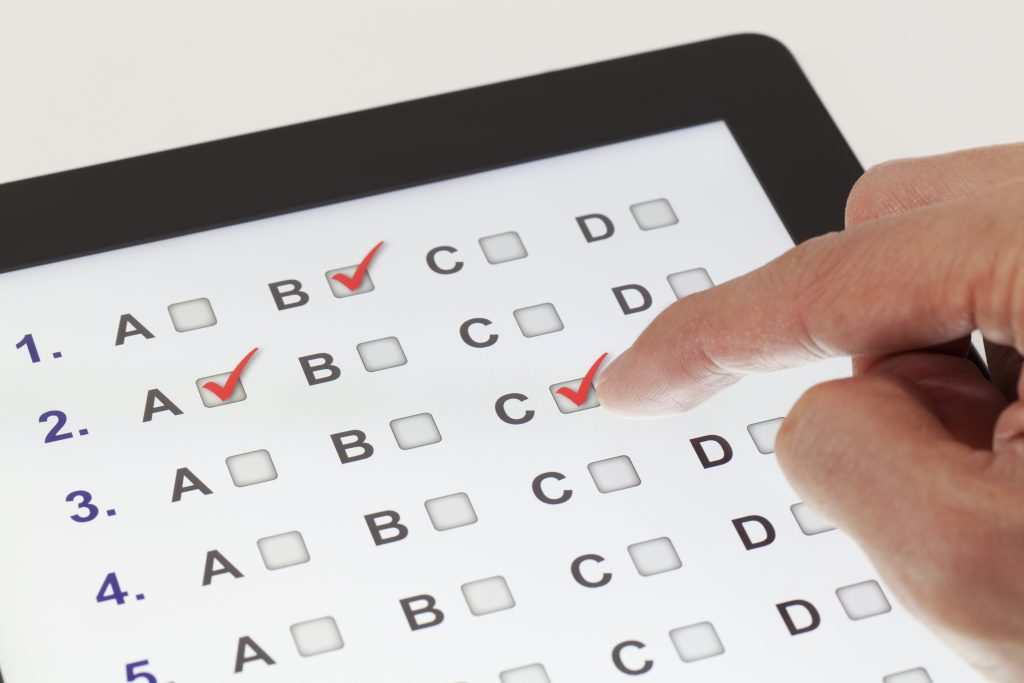 PCE exam prep on a tablet